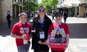 Canteen members and volunteers Danni Chamberlain, Laura Valenti and Ella Holmen