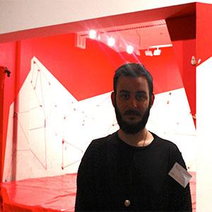 Gallery attendant, Tim Green