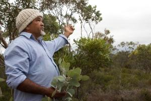 Eugene Eades talks about significance of the land.  Photo: Sebastian Neuweiler