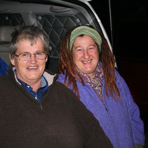 Lisa Drury (right) with Di Hutchesson