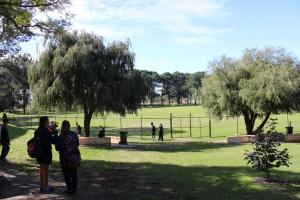 Hampton Senior High School's new Year 7 landscaped area.