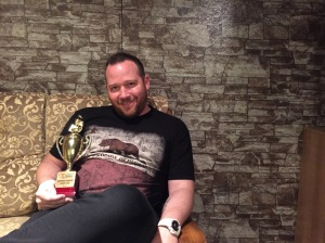 Ash Schofield with National Champion 2015 trophy