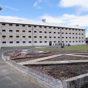 Tour group at Fremantle Prison.