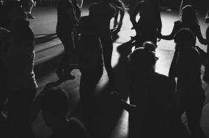 Dancing in the dark. Photo by No Lights No Lycra Perth