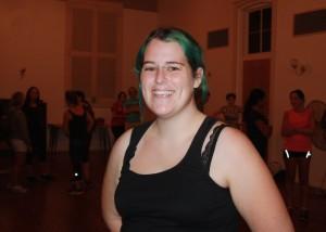 Lauren Hunter in Saint Brigid's Parish Hall for NLNL Northbridge