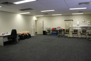 One of the training rooms at St John's Ambulance in Belmont.