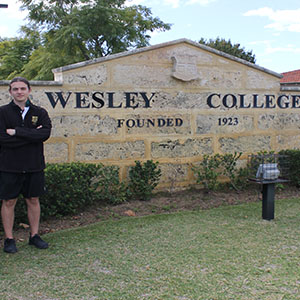 Ilija Stajic works as a Physical Education instructor at Wesley College on top of his university studies.