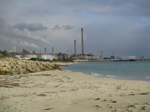Industries along Challenger Beach