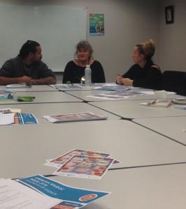 Paul Garlett, Maxine Tomlin and Tanya Halliday at the Kwinana NAIDOC meeting