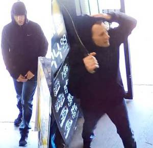 Armed man attempts to rob liquor store with a machete. Photo: Police Media