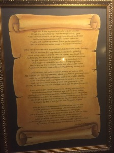 The poem written by Herbert Hoover to an Exchange Hotel barmaid