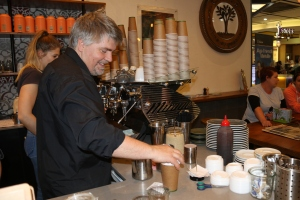Coffea owner Euro Lumb making coffee Photo: Laura Thomas