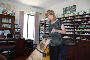 Dr Middle with one of her patients