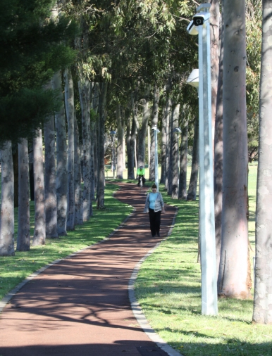 Following the shade across the oval beside Curtin Stadium - Isaac Groves